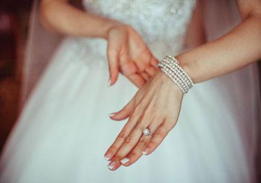 Customized Pearl Cuff Bracelet & Pearl Ring
